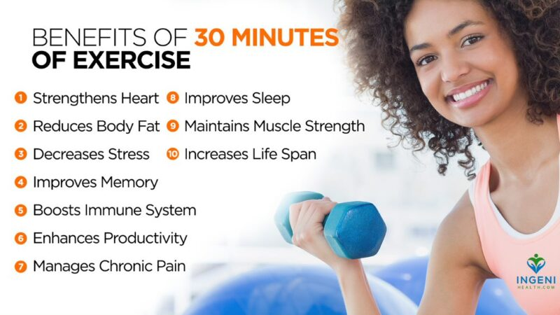 Benefits of 30 Minutes Exercise A Day