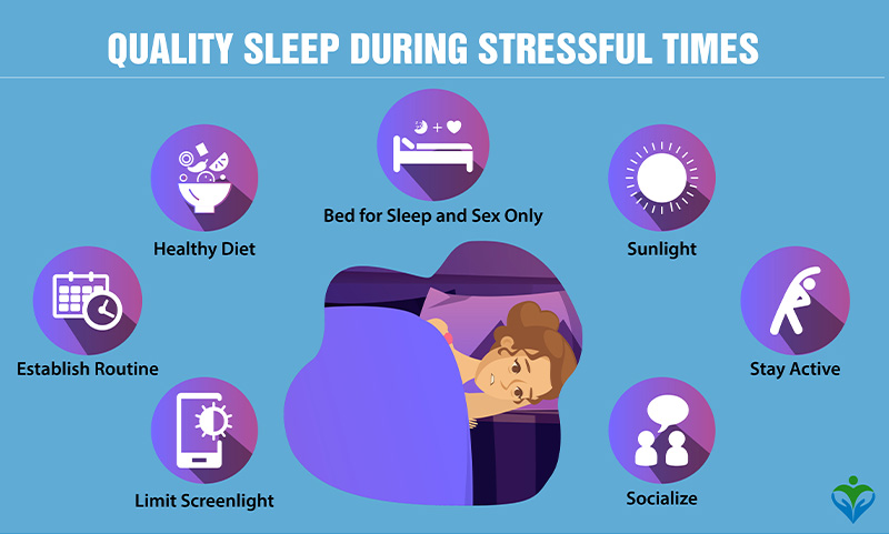 How to get sound sleep during stressful times