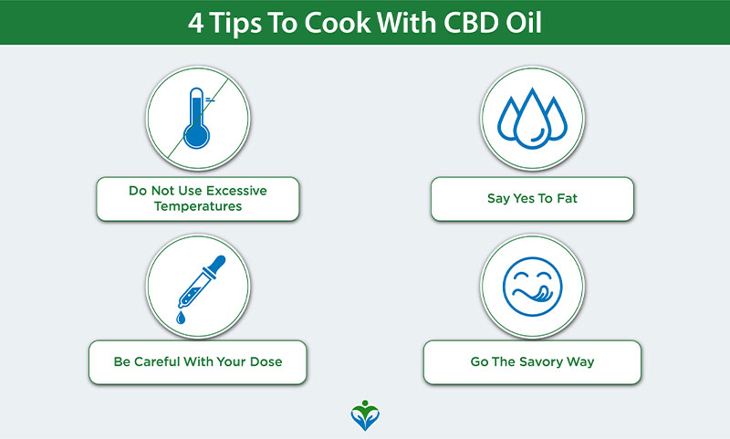 Tips to cook with CBD oil
